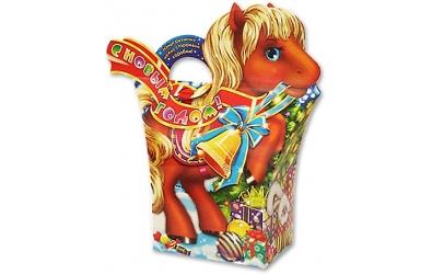 Картонная упаковка новогодний пони